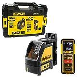 DeWALT Kreuzlinien-Laser grün DW088CG + Entfernungsmesser DW099E im Koffer