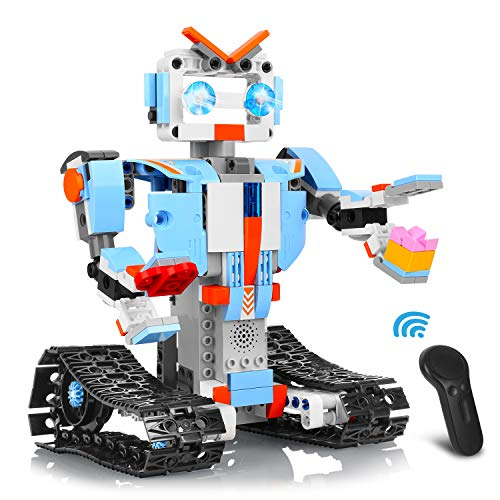 Aokesi Remote Control Robot Building Blocks Educational Kit Engineering STEM Building Toys Intelligent Gift for Boys and Girls(351 Pieces)