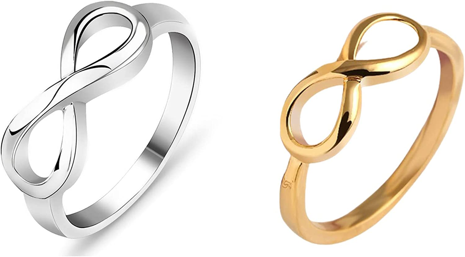 2Pcs Infinity Rings Forever Love Stacking Inf Knot Ring Omaha Outlet sale feature Mall