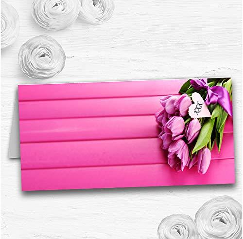 Roze Tulpen Bruiloft Tafel Zitplaatsen Naam Plaats Kaarten 30 Place Cards