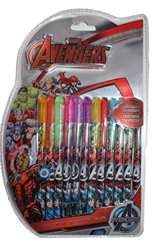 Avengers Marvel Gelschreiber, 12 Stück