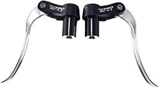 TEKTRO RX4.1 Bar End Brake Levers,Aluminum Expanding Plug Clamp TT / Triathlon Lever Set Silver/Black