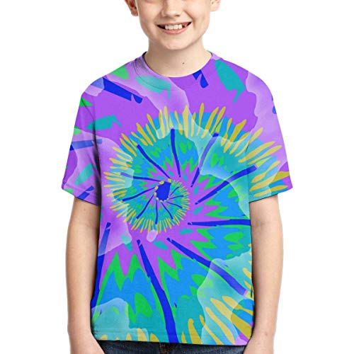 XCNGG Niños Tops Camisetas Youth Short Sleeve T-Shirts Color Splash Hiippie Kids Casual Graphics Tees