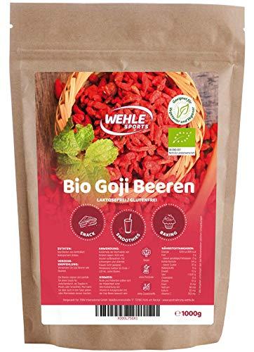 Bio Goji Beeren 1kg ungeschwefelt, sonnengetrocknet, ohne Zusätze Original Goji Wolfsbeeren - 1000g...