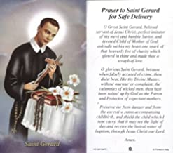 Prayer to Saint Gerard for Safe Delivery - 100-pack Paper Holy Cards (Religious Art HC-GR-SAFE)