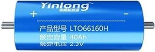 YINLONG 2.3V 30ah 35ah 40ah LTO Battery cell 66160H 2.4V Lithium Titanium Oxide Battery for E-bike Automobiles Buses Railroad Cars RV (2.3V 30Ah×1pcs (66mm×160mm))