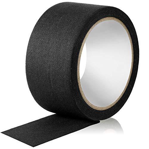 Gewebe Band 5 cm x 10 m, Klebstoff Naht Versiegelung Band für Reparatur von Gurtbändern (Schwarz)