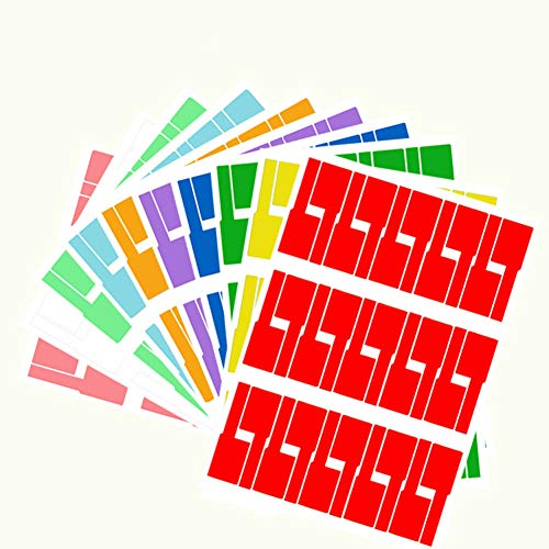 300 Labels 10 Sheet Colorful Waterproof Cord Labels Tags Write on Stickers Tear Resistant Flexible Works Cord Identification Labels for Laser Printer