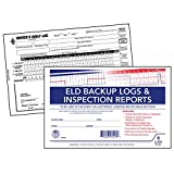 ELD Backup Driver Log Book 5-pk. with Detailed Driver Vehicle Inspection Report & Daily Recap - Book Format, 2-Ply Carbonless, 8.5' x 5.5', 10 Sets of Forms Per Book - J. J. Keller & Associates
