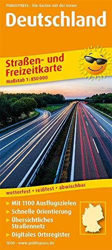 Deutschland: Straßen- und Freizeitkarte mit Touristischen Straßen und Highlights. 1:850000 (Straßen- und Freizeitkarte / StuF)