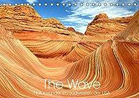 The Wave: Naturwunder im Suedwesten der USA (Tischkalender 2022 DIN A5 quer): Atemberaubende Sandstein Formationen (Monatskalender, 14 Seiten )