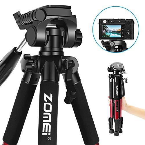 Leichtes Stativ - ZOMEi Z666 Tragbares Reise Stativ Mit Tragetasche für Video DSLR Nikon Canon Sony Digital SLR oder Videokamera 140cm Rot