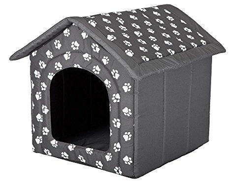 Hobbydog R6 BUDSWL4 Hundehöhle Größe R6-76 X 72 X 74 cm Grau Hundehütte Hundebett Katzehütte Höhle, XXL, Gray, 2.5 kg