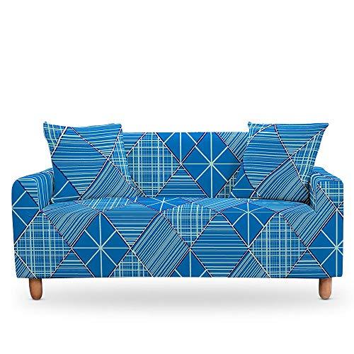 Vlejoy Antirutsch Stretchhusse Mandala Stretch Couch Bezug Ethnische Blumensofabezüge Für Wohnzimmer 3D Digital Geometric Schonbezug-4-Sitzer (235-300cm) _Color-G