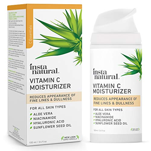 InstaNatural Vitamin C Moisturizer - Anti Aging & Wrinkle Cream - Hyaluronic Acid & Organic Jojoba...