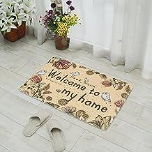Cartoon Welcome Birds Antiskid Pad Flannel Bath Mat Door Mat for Kitchen Indoor Rugs Bathroom Mats