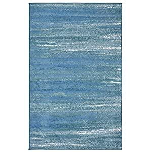Evolur Home Cape May Waterfall Nursery Rug 70″x52″ in Caribbean Blue
