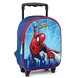 Marvel Spider-Man Sac à Dos à roulettes pour Enfants - 3D - Bleu