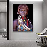 ganlanshu Pintura sin Marco Las Mujeres africanas Negras más vendidas Pintura al óleo Lienzo Carteles e Impresiones Arte escandinavoZGQ2547 30X40cm