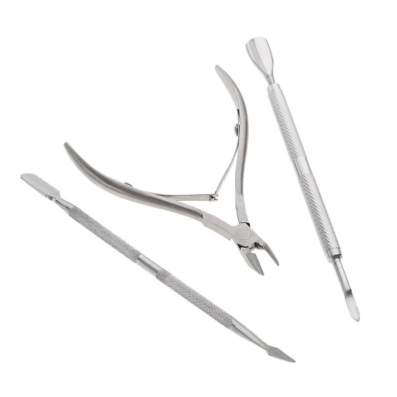 トリップ三十遮るHomyl 爪マニキュア プッシャー ネイルクリッパー 爪やすり ステンレス製 ネイル道具 3点入 高品質