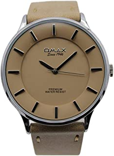 اوماكس ساعة رسمية رجال انالوج بعقارب جلد - 00SX7003IJ07