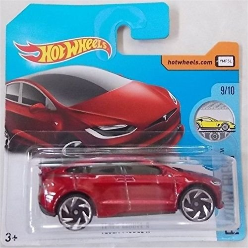 Hot Wheels 2017 Factory Fresh Tesla Model X Metallic Red 196/365 (Short Card)