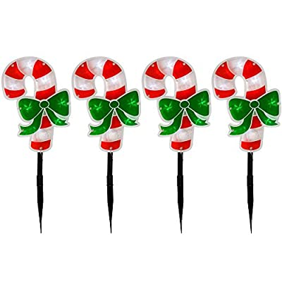 Set of 4 Candy Cane Double Sided Pathway Christmas Lights ByWeRChristmas