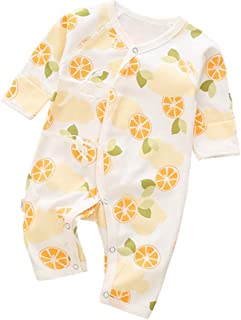 AIKSSOO Toddler Baby Boy Girl Outfit Flannel Sleep and Play Zip Romper Jumpsuit