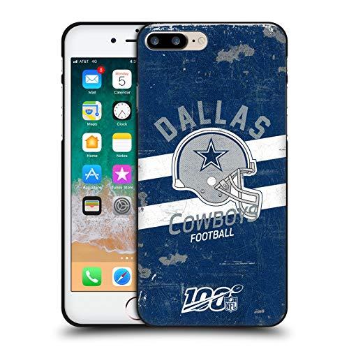 Head Case Designs Licenciado Oficialmente NFL Casco Distressed Look 100th Dallas Cowboys Logo Art Funda de Gel Negro Compatible con Apple iPhone 7 Plus/iPhone 8 Plus