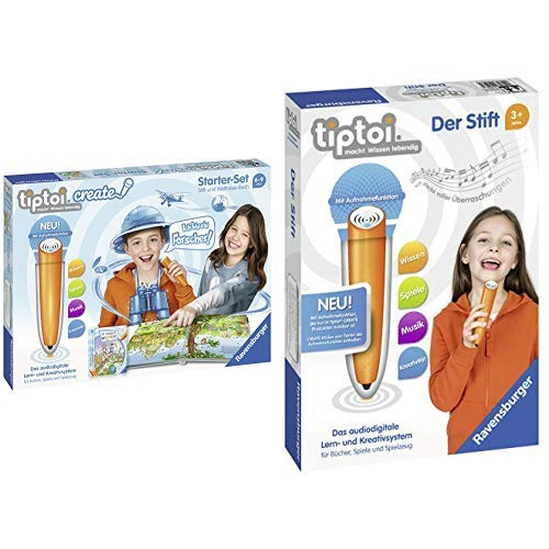 Ravensburger Tiptoi 00805 Create Starter-Set: Stift und Weltreise-Buch &  Tiptoi 00801 Der Stift