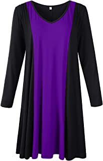 Plus Size Dress with Pockets Casual T-Shirt Dresses for...