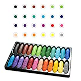ISAKEN 12/24 Colors Childrens Peanut Crayon Chalk, Washable, Safe, Drawing Chalks Graffiti Painting Crayon School Stationery Art Craft Supplies for Kids DIY