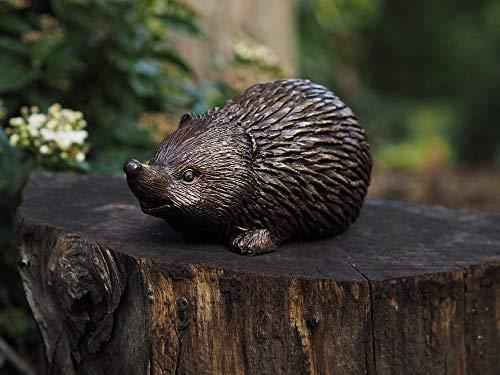 H. Packmor GmbH Bronzeskulptur Kleiner süßer Igel Gartenfigur Dekorationsfigur aus Bronze