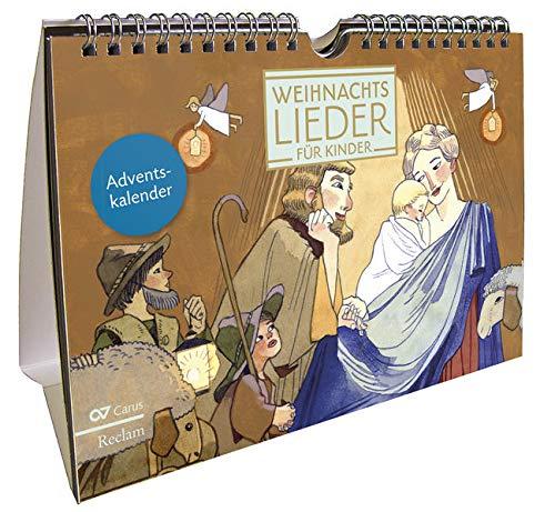 Weihnachtslieder für Kinder: Kalender zum Aufstellen mit 24 Advents- und Weihnachtsliedern