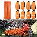 DIBBATU Bivy Sack Waterproof Emergency Survival Blanket Bivy Used as Emergency Sleeping Bags Mylar Emergency Blanket and Emergency Shelter for Outdoor Hiking Camping 8 Pack