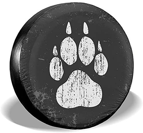 Fundas para neumáticos de repuesto con estampado de pata de perro,poliéster,universal,de 15 pulgadas,para ruedas de repuesto,para remolques,vehículos recreativos,SUV,ruedas de camiones,camiones,carav