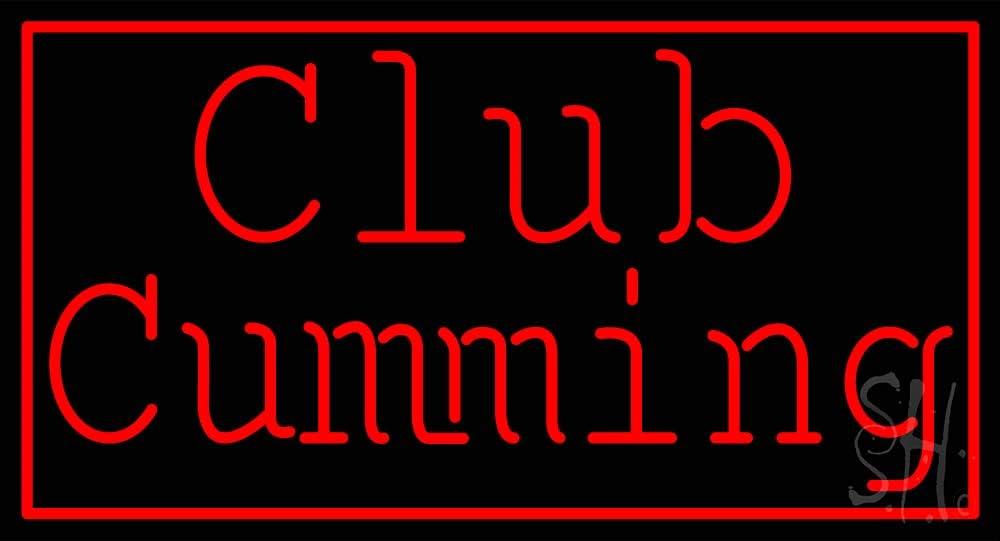 Red Border Club San Francisco Mall Cumming free shipping LED Neon Sign inches - 24 Black 13 Sq x