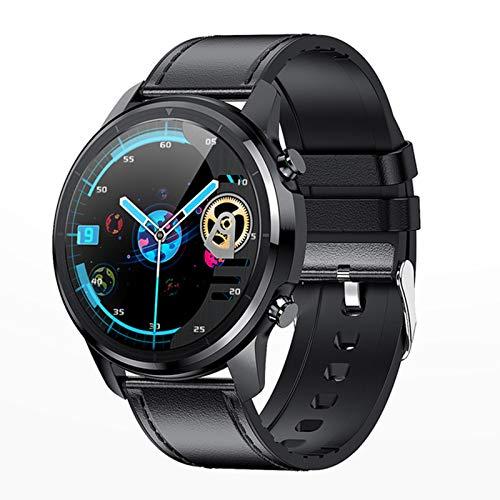 Bluetooth 5.0 Smart Watch 1.3 Pulgadas 360 * 360 HD AMOLED Pantalla Abajo Abajo A Prueba De Agua Ratón Cardíaco para Hombres Y Presión Arterial,B