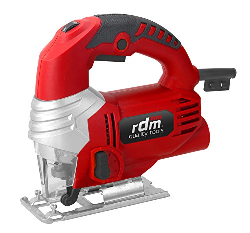 RDM Quality Tools 70053 PRO - Sierra de calar profesional , 600W, giro reversible, velocidad variable, Rojo/Negro