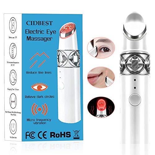 Augenmassagegerät Anti Aging Antifalten Massagegerät, 42℃ Beheizte Sonic Vibration Augenmassagegerät Für Augenringe Gedunsenheit Fältchen Schwellungen Tränensäcke und Krähenfüße