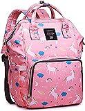 PENGJIE Multi-Function Waterproof Baby Travel Backpack Diaper Bag with Large Capacity Baby Nappy