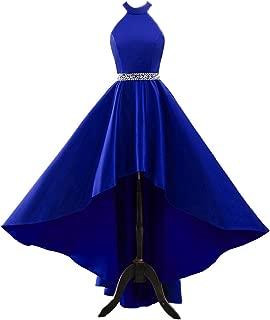 Changuan Women's Halter High Low Evening Dress Long Homecoming Prom Formal Gowns W/ Pockets