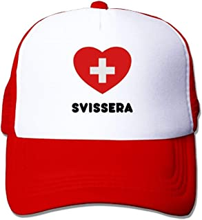 TOMTM Switzerland Heart Big Foam Mesh Hat Mesh Back Adjustable Cap