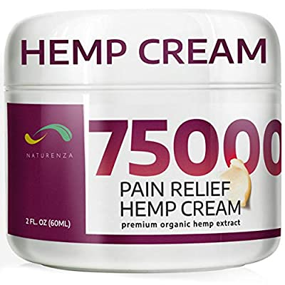 Pain Relief Hemp Cream - Maximum Strength Remedy for Pain Relief - Formulated for Muscle Soreness - Post Workout Recovery Sport Cream - Arnica, Hemp Oil Extract, Aloe Vera, MSM, Menthol - Naturenza from Naturenza