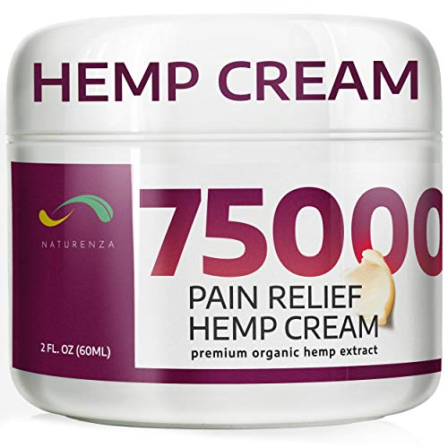Pain Relief Hemp Cream - Maximum Strength Remedy for Pain Relief - Formulated for Muscle Soreness - Post Workout Recovery Sport Cream - Arnica, Hemp Oil Extract, Aloe Vera, MSM, Menthol - Naturenza