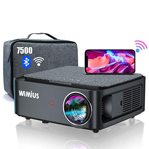 Proyector WiFi Bluetooth Full HD 1080P, 7500 WiMiUS Proyector WiFi 1080P Nativo...