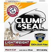 Arm & Hammer Clump & Seal Lightweight Cat Litter, Multi Cat, 15lb