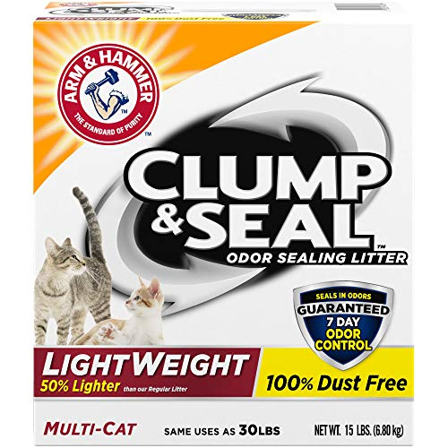 Arm & Hammer Clump & Seal Lightweight Cat Litter, Multi Cat, 15lb