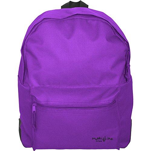 Grafoplás 37500835-Mochila escolar niña y niño Multiline color violeta