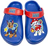 Paw Patrol Boys Clog Chase and Marshall, Molded Clog with Backstrap Blue,Kidssize 12